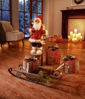 Santa 'Wunschliste? Terracotta Weihnachtsmann Weihnachtsdeko Nikolaus Deko Figur