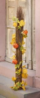 "Deko Girlande "" Kürbis"" 160 cm Kürbisse + Herbst Blättern, Erntedank, Halloween"