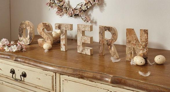 """Schriftzug ?Ostern"""" aus Holz 6 Deko Buchstaben Flur Haus Zimmer Tisch Dekoration - Vorschau 1"""