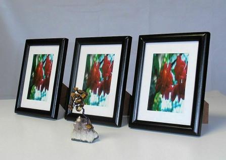 12x Holz Bilderrahmen, schwarz, 9, 5x14 / 10x15 Foto Rahmen Collage Galerie 14x19