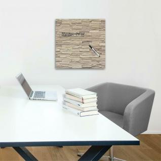 """Glas Magnet Tafel """" Mauer"""" 50x50 + Magnete + Stift Memo Schreib Board Pinn Wand - Vorschau 2"""