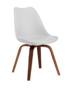 SuperStudio Design Stuhl CROSS Holz / weiß, Wohnzimmer Esszimmer Küchen Sessel #
