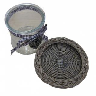 Windlicht Weiden Weide Laterne Glaskerzenhalter Teelichthalter Tischdeko - Vorschau 2