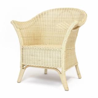 DESIGN Rattan Sessel, natur, hohe Lehne, Korb Club Lounge Relax Balkon Stuhl