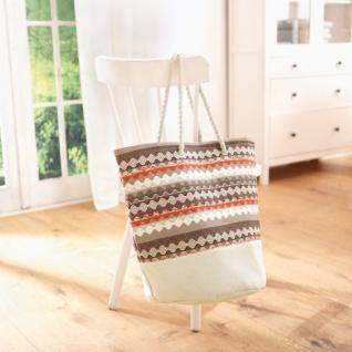 Tasche 'Retro-Look? Damen Henkel Handtasche Shopper Sommer Strand - Vorschau
