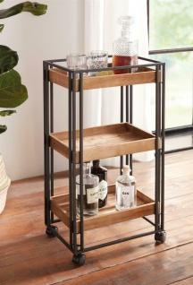 Servier Wagen mit 3 Holz Böden, Getränke Bar Tee Küchen Beistell Roll Tisch