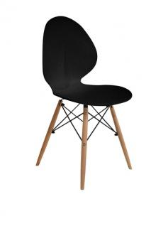 SuperStudio 2er Design Stuhl Set AUSTER schwarz, Küchen Esszimmer Schalen Stühle