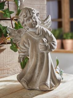 """Engel Figur """" Vogelfreund"""" 19x9x20 cm Grab Schmuck Christlich Heaven Tisch Deko - Vorschau 1"""
