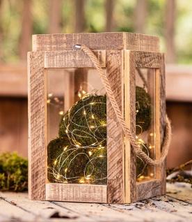 Windlicht Laterne Upcycling aus Holz mit Glas 30 cm hoch Deko Glas Tee Licht