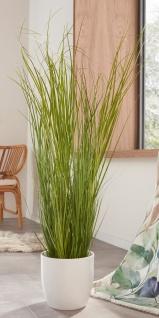 Kunst Gras 120 cm hoch künstliche Zier Deko Plastik Pflanze, täuschend echt