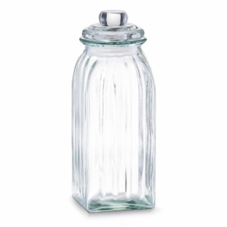 ZELLER VORRATSGLAS 1500 ml eckig VINTAGE VORRATSGEFÄSS VORRATSBEHÄLTER GLAS NEU