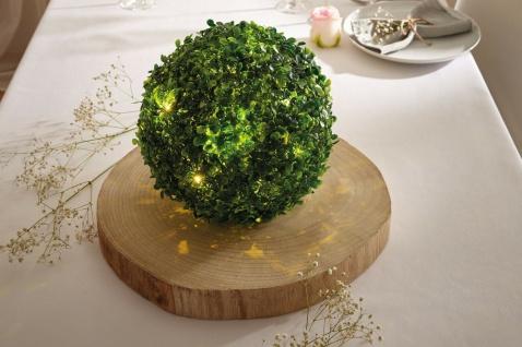 künstliche Buchsbaum Kugel mit LED Beleuchtung, Tisch Lichter Deko Kunst Pflanze