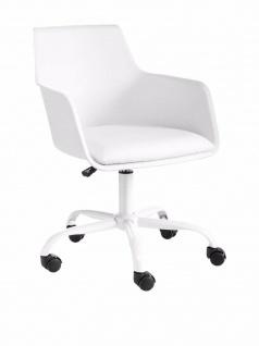 13Casa Büro Stuhl SUGAR A2 weiß, Leder Kissen, Dreh Arbeits Office Schreibtisch