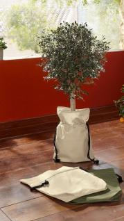 2er Set Pflanzbeutel aus Nylon, creme, Pflanz Tasche Sack Korb Blumen Kübel
