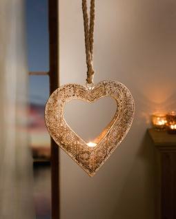 """Teelicht Hänger """" Herz"""" aus Metall, bronze, Deko Kerzen Halter Hänge Windlicht"""