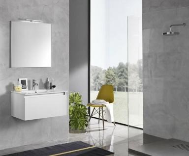 ital. Design Bad Möbel Set IBIZA weiß Waschbecken + Unterschrank + Spiegel + LED