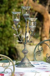 Metall Kerzen Leuchter Antik Look 54 cm hoch, Teelicht Ständer Halter Windlicht