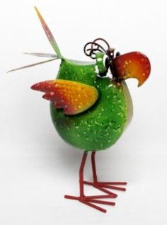 Figur Crazy Bird Klein Metall Bunt Vogel Tierfigur Garten Teich Dekoration Neu - Vorschau 3