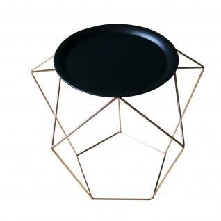 POTIRON Design Beistelltisch LOFT kupfer / schwarz Couch Blumen Tablett Tisch