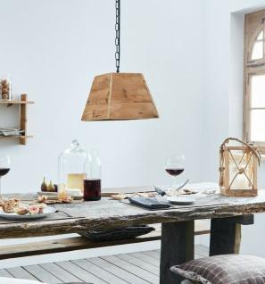 """Hänge Lampe """" Upcycling"""" recyceltes Holz + schwarze Metall Kette, Pendel Leuchte"""
