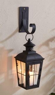 """Metall Laterne ?Chateau"""" mit Wand Haken, Garten Balkon Windlicht Kerzen Halter"""