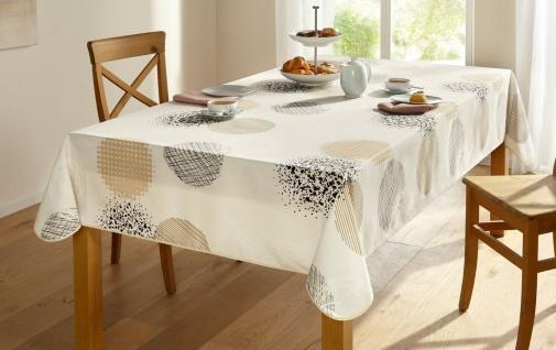"""Tischdecke """" Sanfte Töne"""" 140x240 creme abwaschbar Lotus Effekt Tisch Tuch Wäsche"""