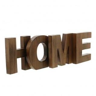 """4 tlg. Schriftzug ?Home"""" Holz Deko Buchstaben Flur Haus Zimmer Tisch Dekoration"""