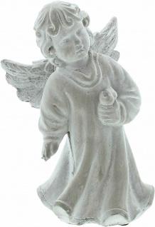 """Engel Figur """" Vogelfreund"""" 19x9x20 cm Grab Schmuck Christlich Heaven Tisch Deko - Vorschau 2"""