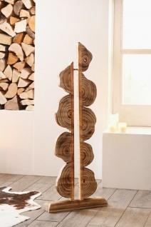 "Deko Objekt "" Artwork"" aus Holz, 105 cm hoch, geflammt, Kunst Skulptur Säule"