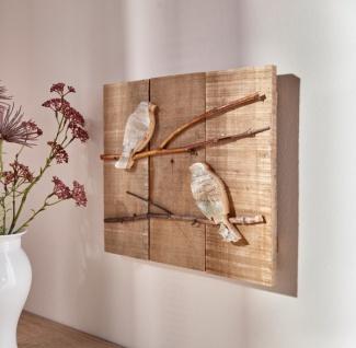 Wandbild 'Vögelchen? aus Holz Wand Bild Deko Schmuck Hänger