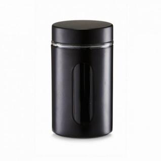 6x ZELLER VORRATSGLAS 900 ml schwarz VORRATSGEFÄSS VORRATSBEHÄLTER NEU