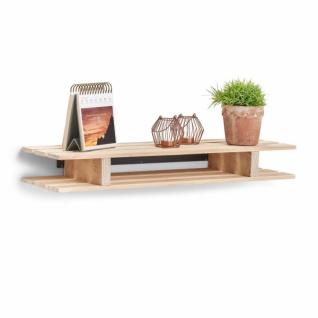Zeller Palettenregal aus Holz, Kiefer, Wand Paletten Regal Palette Küche Bad