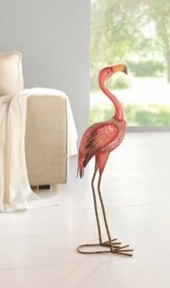 """Figur ?Flamingo"""" aus Metall 63 cm Deko VogelTisch Objekt Skulptur"""