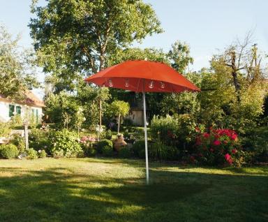 Sonnenschirm Ø 175 cm orange knickbar, UV 30+ Schutz Garten Balkon Sonnen Schirm