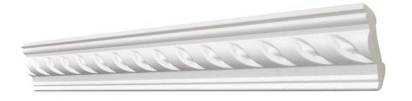 10m Decken Leisten 5x 2m G25 Eck Leiste 53x53 mm Stuck Zier Profil Styropor