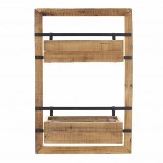 """Wand Pflanzer """" Industrial"""" aus Holz, mit 2 Blumen Pflanz Kästen, Regal Kasten - Vorschau 2"""