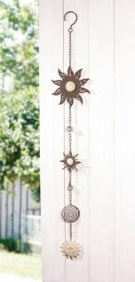 """Wand Hänger """" Sonne"""" aus Metall, für Innen + Außen, Garten Wand Deko Schmuck"""