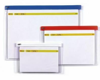 30x REXEL Zip Bag Dokumenten Taschen A5 mit Reißverschluss klar Akten Mappen
