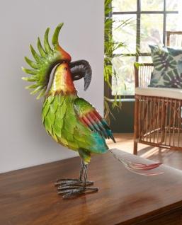 Papagei Figur Perry Aus Metall Deko Tisch Vogel Garten Terrasse