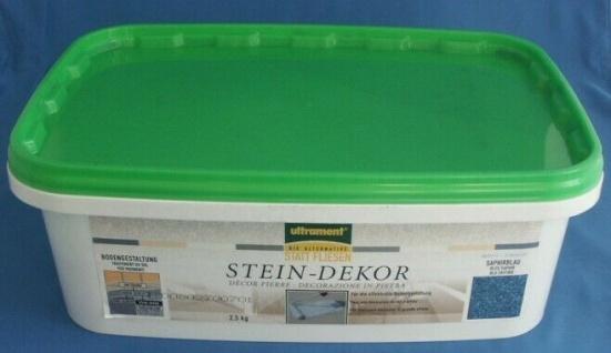 ULTRAMENT Boden Beschichtung STEIN-DEKOR saphierblau 2, 5kg blau 5, 98€/1kg