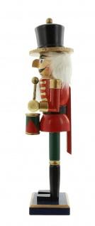 """Nussknacker """" Trommler"""" aus Holz, rot, 36 cm, Advents Weihnachts Deko Figur - Vorschau 3"""