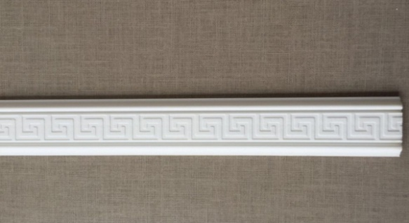 10m Decken Leisten 5x 2m PL7 Dekor Leiste 4, 8 cm 3D Optik Zier Profil Styropor