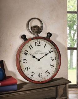 "METALLUHR "" Old Town Clocks"" WANDUHR DEKOUHR ANTIK UHR NOSTALGIE SHABBY CHIC"