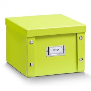 2x Zeller Aufbewahrung Box mit Deckel grün, für 26 DVD Kiste Karton Ordnung