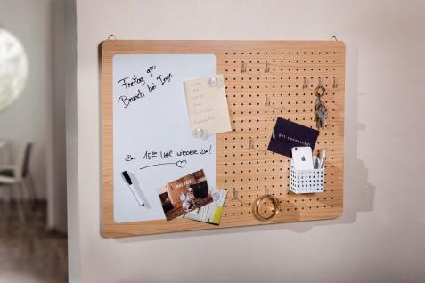 """16 teiliges Wandboard """" Notizen"""" aus Holz Memo Board Pinn Wand Loch Tafel Gitter"""