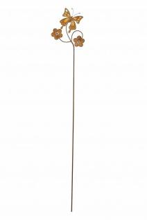 """Garten Stecker """" Schmetterling"""" 115cm hoch, Metall, Rost Optik, Beet Deko Sticker - Vorschau 4"""