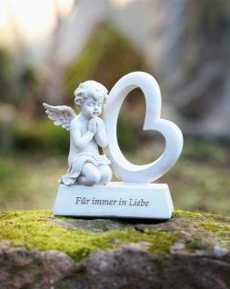 """Engel Figur """" Für immer in Liebe"""" 14x8x24 cm Grab Schmuck Christlich Heaven Deko"""