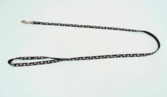 "Hunter Nylon Führleine "" Krazy Lily"" schwarz, Gr. XS 10mm / 110 cm Hunde Leine"