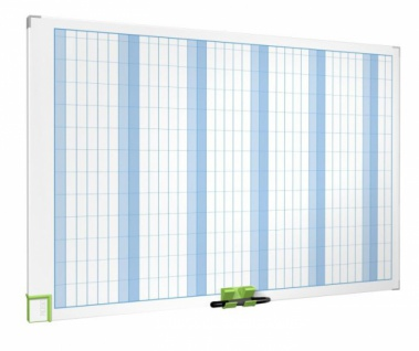 NOBO PERFORMANCE Whiteboard 60x90 Jahres Monats Urlaubs Planer Magnettafel