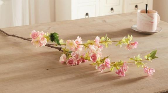 """Deko Zweig """" Kirschblüte"""", 105 cm lang, Kunst Textil Pflanze Ast Blüte Frühling"""